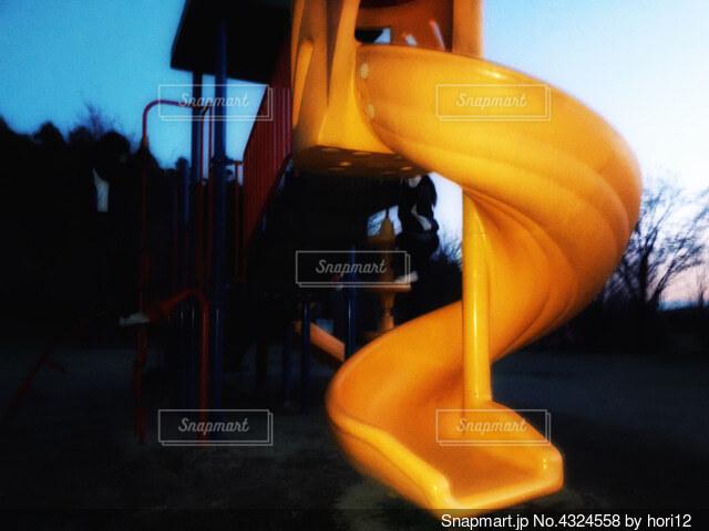 滑り台の写真・画像素材[4324558]