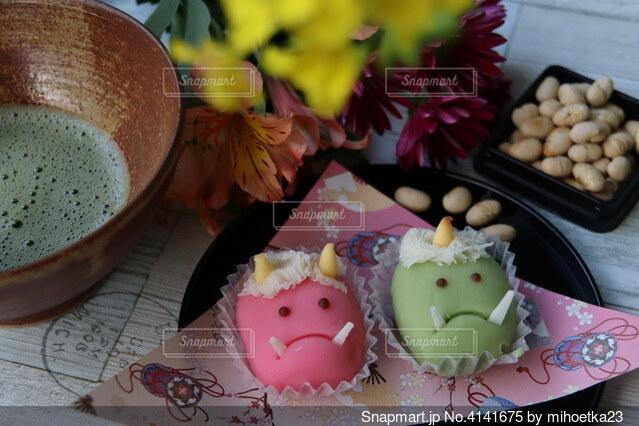 節分の和菓子の写真・画像素材[4141675]