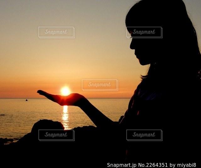 夕日の写真・画像素材[2264351]