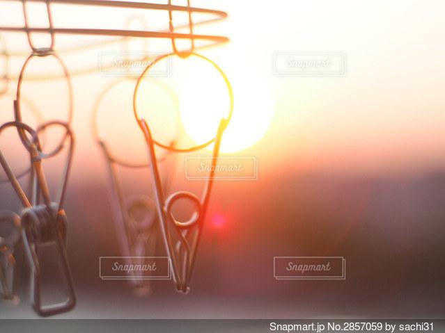 日常の夕景の写真・画像素材[2857059]