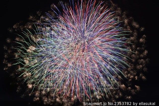 空の花火の写真・画像素材[2353782]
