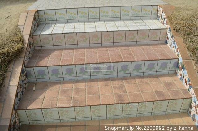 タイル階段の写真・画像素材[2200992]