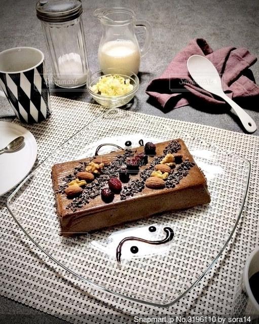 食べチョコレートムースの写真・画像素材[3196110]