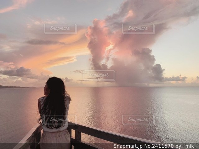 サンセットの写真・画像素材[2411570]