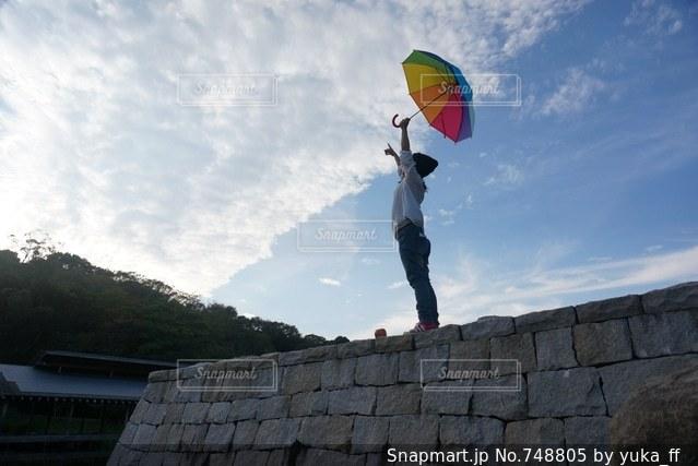 レインボー傘の写真・画像素材[748805]