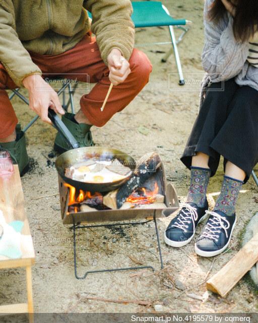 キャンプの写真・画像素材[4195579]