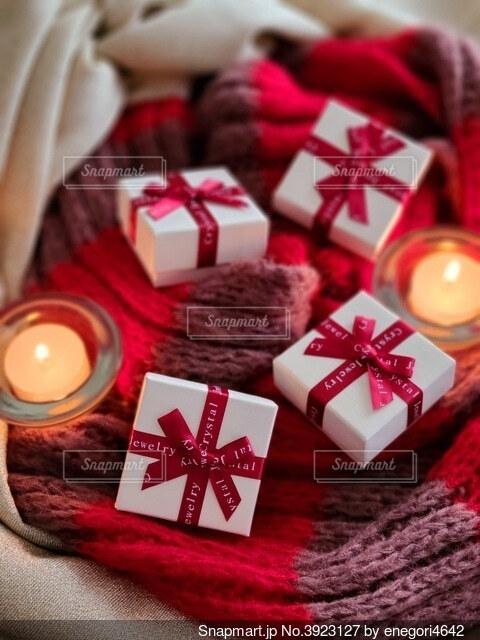 クリスマスをイメージしたギフトの写真・画像素材[3923127]