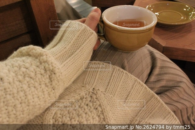 北海道のカフェでの写真・画像素材[2624794]
