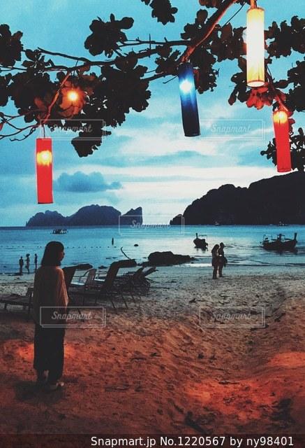 島の夕暮れの写真・画像素材[1220567]