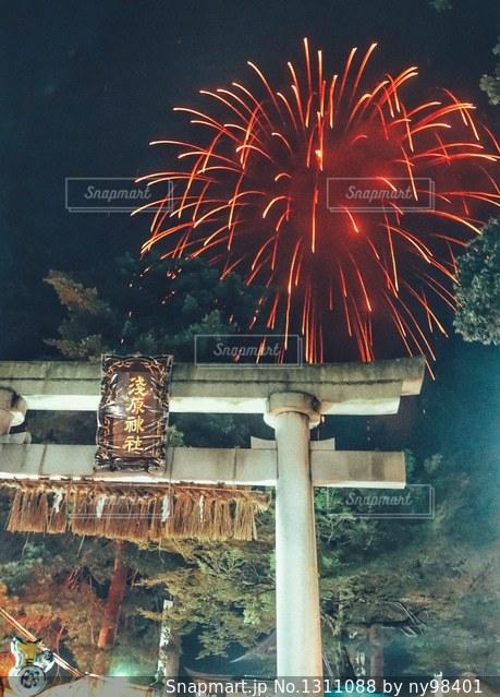 夏祭りの空の写真・画像素材[1311088]