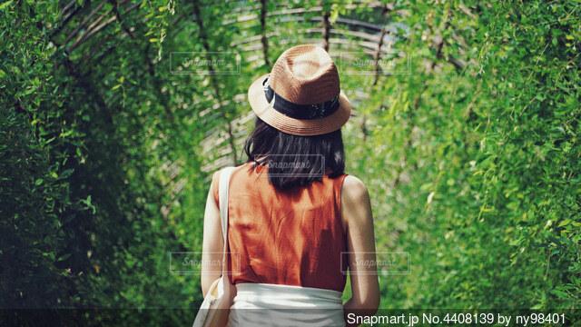 緑のアーチを散歩の写真・画像素材[4408139]