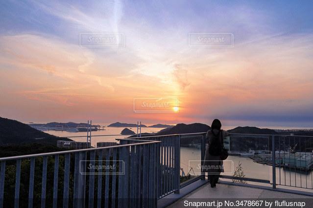 長崎港の夕景の写真・画像素材[3478667]