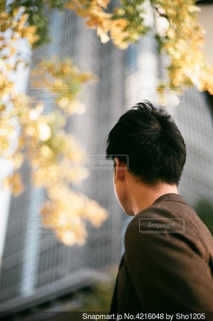サラリーマンとオフィスの写真・画像素材[4216048]