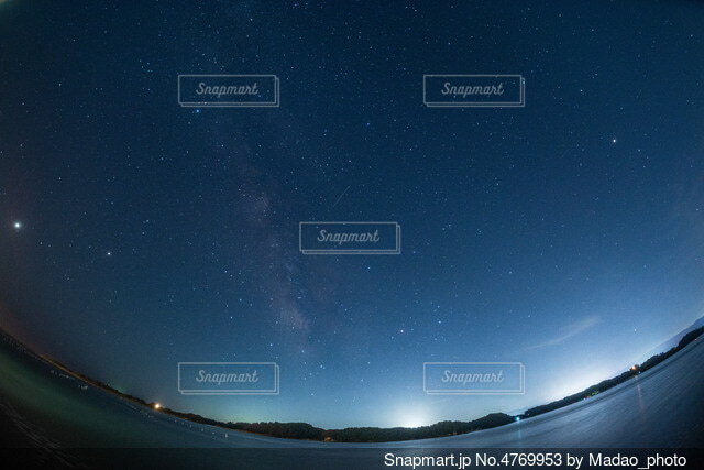 天の川と…の写真・画像素材[4769953]