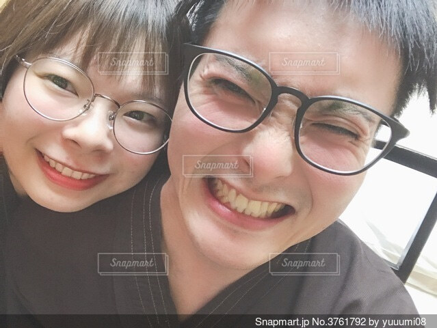 眼鏡っ子の写真・画像素材[3761792]
