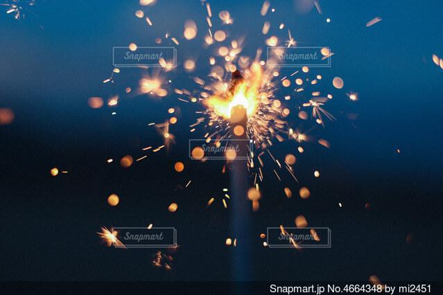 空の花火の群の写真・画像素材[4664348]