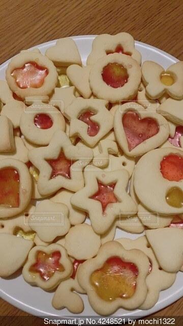 ステンドグラスクッキーの写真・画像素材[4248521]