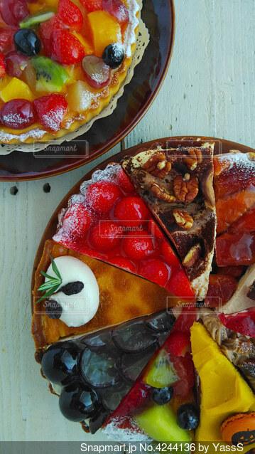 色々ケーキの写真・画像素材[4244136]
