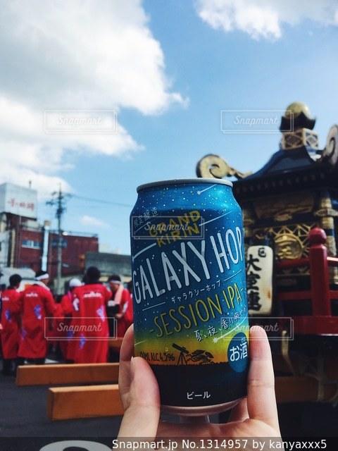 夏祭りにビールの写真・画像素材[1314957]