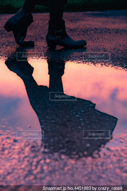 reflectionの写真・画像素材[4451883]
