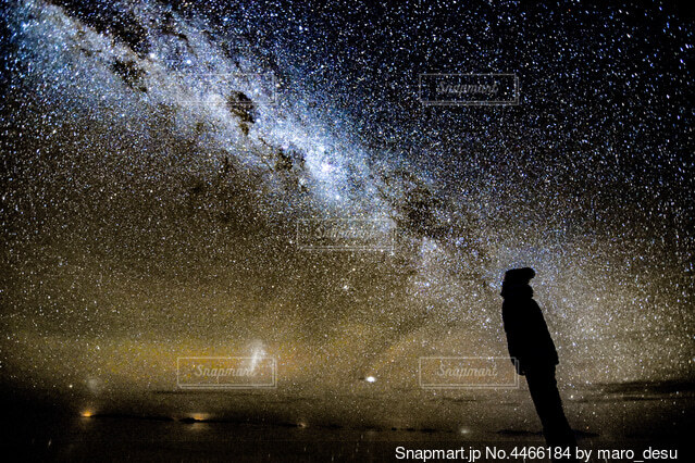 満点の星空の写真・画像素材[4466184]