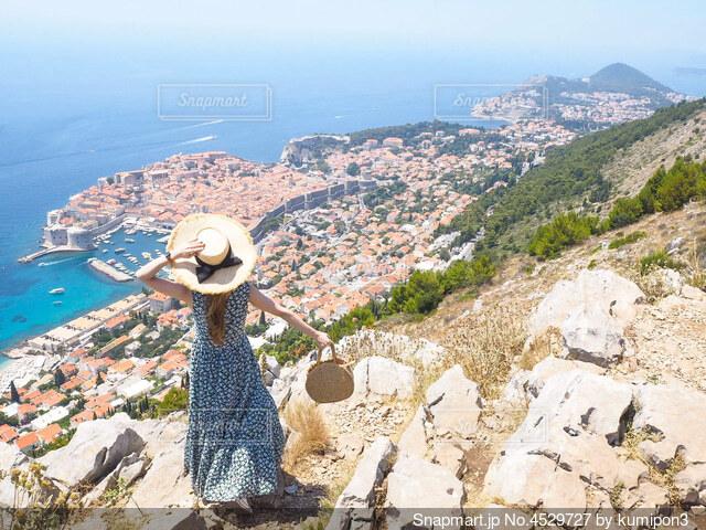 クロアチア、スルジ山からの絶景の写真・画像素材[4529727]