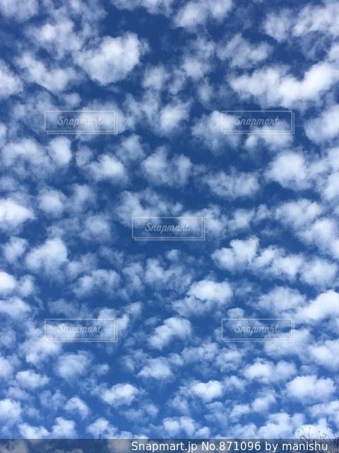 青空にもこもこ雲!の写真・画像素材[871096]