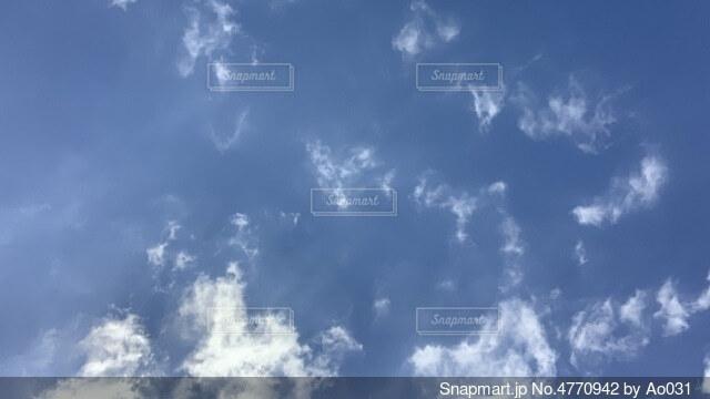 空の雲の群れの写真・画像素材[4770942]
