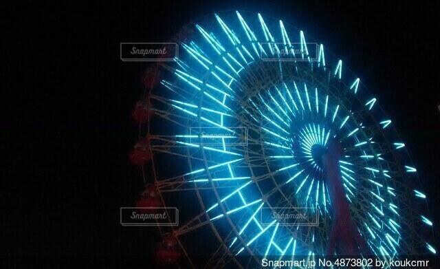 夜の観覧車の写真・画像素材[4873802]
