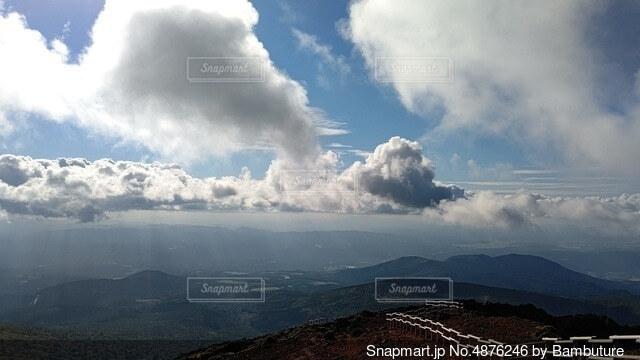 空の雲のクローズアップの写真・画像素材[4876246]