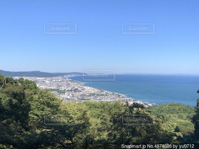 高台の景色の写真・画像素材[4874686]