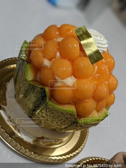 メロンケーキの写真・画像素材[4875433]