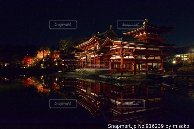 夜の街の景色の写真・画像素材[916239]