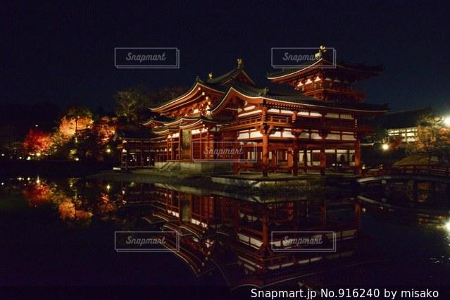 夜の街の景色の写真・画像素材[916240]