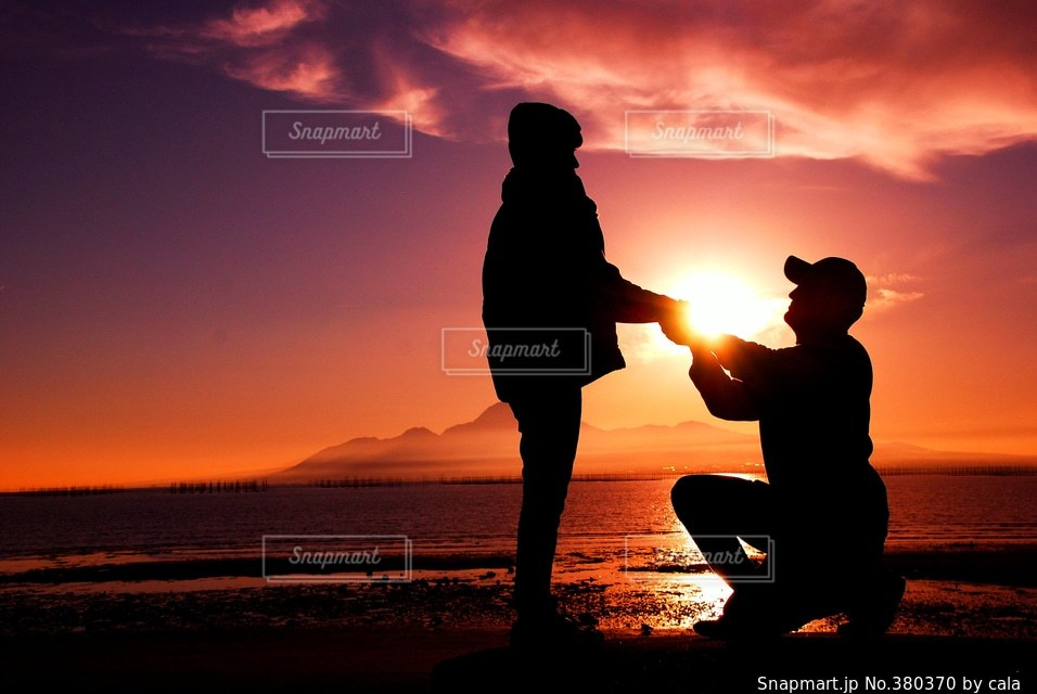 夕日の写真・画像素材[380370]