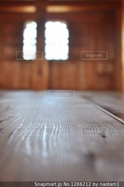 天守台の木目の写真・画像素材[1266212]