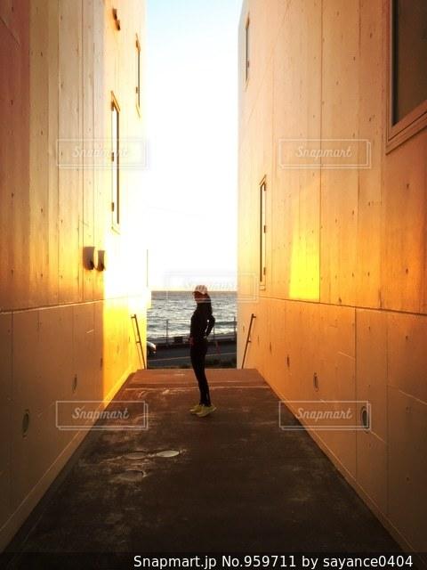 夕焼けランの写真・画像素材[959711]