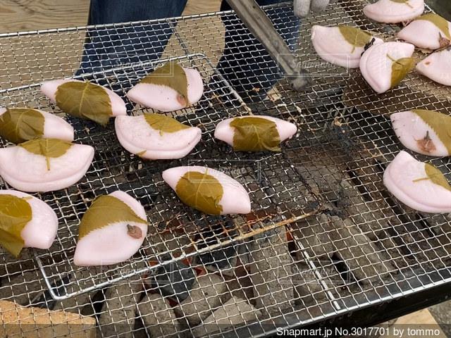 グ焼き桜餅の写真・画像素材[3017701]