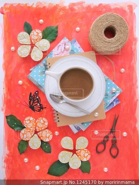 一杯のコーヒーの写真・画像素材[1245170]