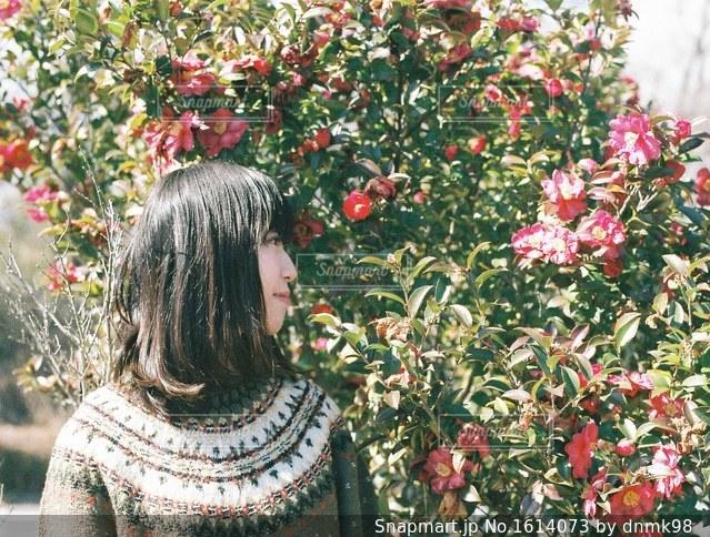 彼女は花がよく似合うの写真・画像素材[1614073]