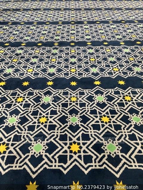 ブルーモスクの絨毯の写真・画像素材[2379423]