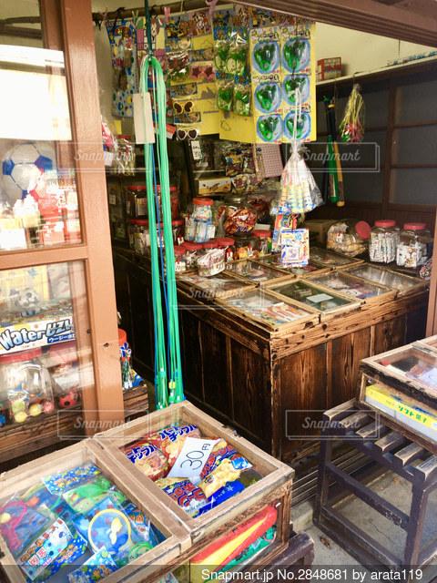 谷中の駄菓子屋の写真・画像素材[2848681]