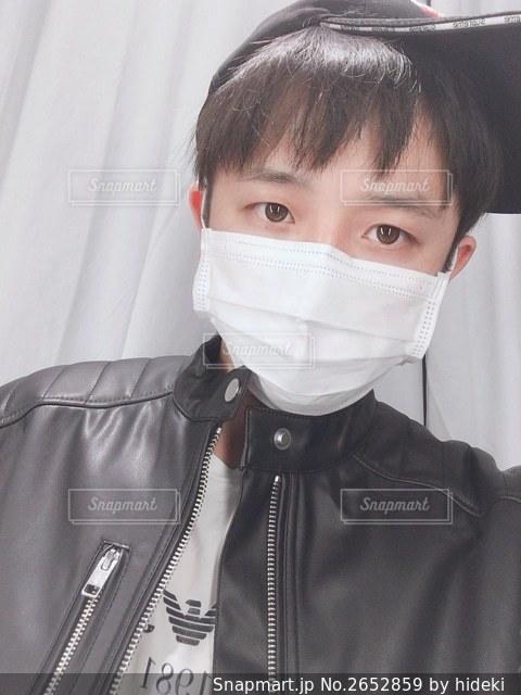 風邪予防でマスクしてます!の写真・画像素材[2652859]