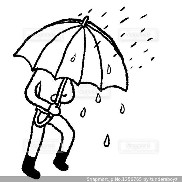 雨と傘と人の写真・画像素材[1256765]