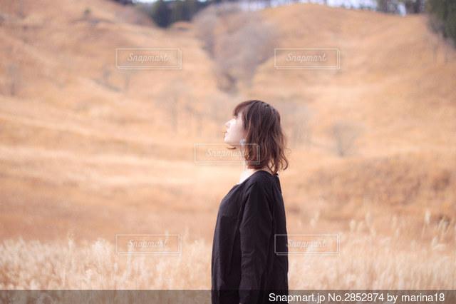 ススキの丘の写真・画像素材[2852874]