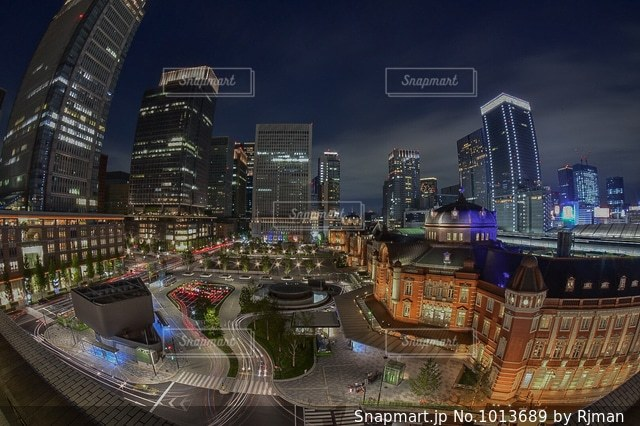 都市の空中写真の写真・画像素材[1013689]