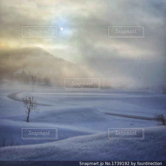 朝靄の太陽の写真・画像素材[1739192]