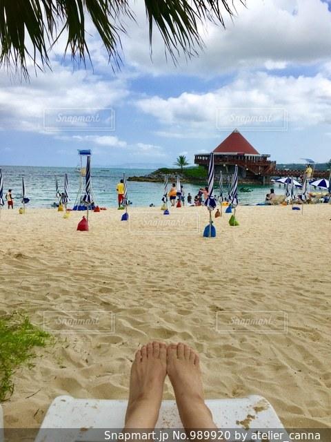 ビーチでのんびりの写真・画像素材[989920]