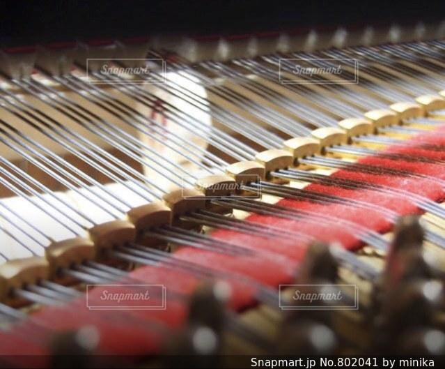 ピアノの鍵盤の中の写真・画像素材[802041]