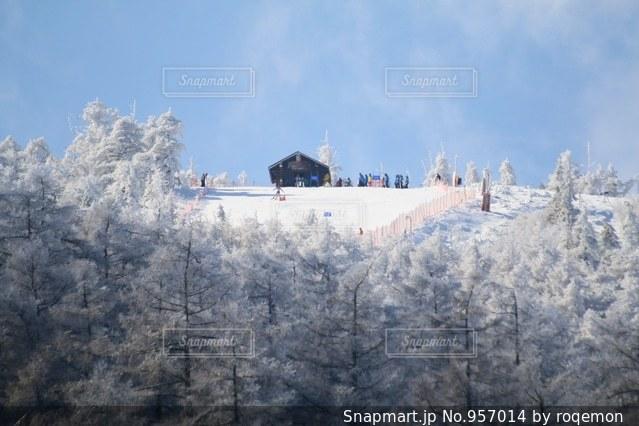 背景の山と木 - No.957014